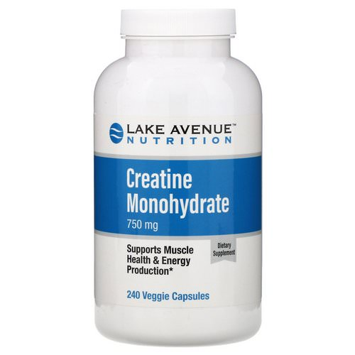 Lake Avenue Nutrition, Creatine Monohydrate, 750 mg, 240 Veggie Capsules Review