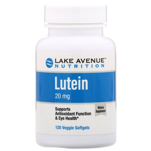 Lake Avenue Nutrition, Lutein, 20 mg, 120 Veggie Softgels Review