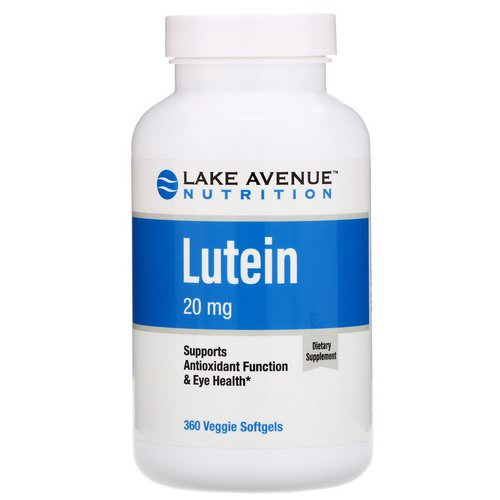 Lake Avenue Nutrition, Lutein, 20 mg, 360 Veggie Softgels Review