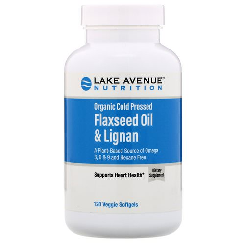 Lake Avenue Nutrition, Organic Cold Pressed Flaxseed Oil & Lignan, Hexane Free, 120 Veggie Softgels Review
