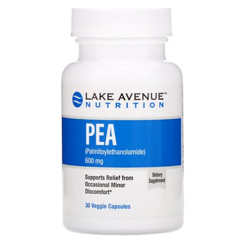 Lake Avenue Nutrition, PEA (Palmitoylethanolamide), 600 mg, 30 Veggie Capsules Review