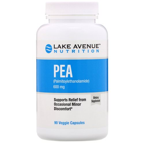 Lake Avenue Nutrition, PEA (Palmitoylethanolamide), 600 mg, 90 Veggie Capsules Review