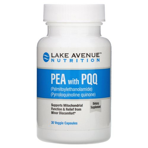 Lake Avenue Nutrition, PEA (Palmitoylethanolamide) with PQQ, 30 Veggie Capsules Review