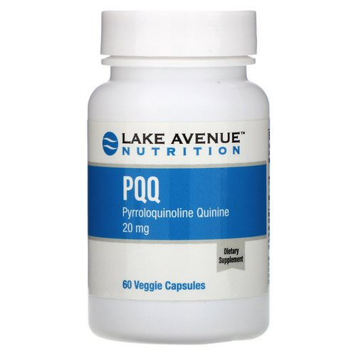 Lake Avenue Nutrition, PQQ (Pyrroloquinoline Quinine), 20 mg, 60 Veggie Capsules Review
