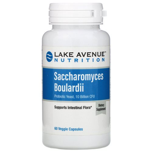 Lake Avenue Nutrition, Saccharomyces Boulardii, Probiotic Yeast, 10 Billion CFU, 60 Veggie Capsules Review