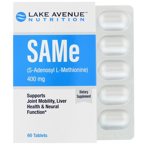 Lake Avenue Nutrition, SAMe (S-Adenosyl L-Methionine), 400 mg, 60 Tablets Review