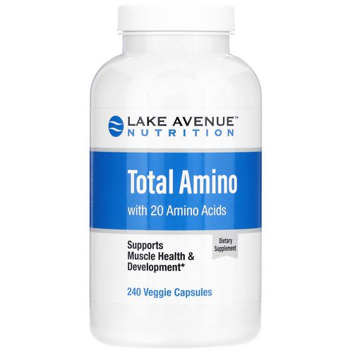 Lake Avenue Nutrition, Total Amino, 240 Veggie Capsules Review