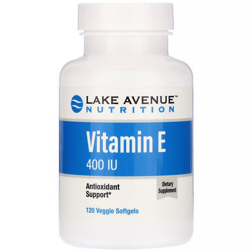 Lake Avenue Nutrition, Vitamin E, 400 IU, 120 Veggie Softgels Review