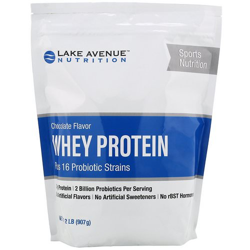 Lake Avenue Nutrition, Whey Protein + Probiotic, Chocolate Flavor, 2 lb (907 g) Review
