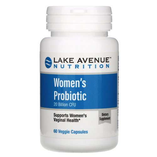 Lake Avenue Nutrition, Women's Probiotics, 20 Billion CFU, 60 Veggie Capsules Review