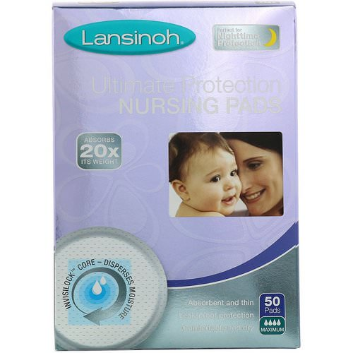 Lansinoh, Ultimate Protection Nursing Pads, Maximum, 50 Pads Review