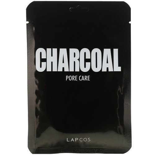 Lapcos, Daily Skin Mask Charcoal, Pore Care, 5 Sheets, 0.84 fl oz (25 ml) Each Review