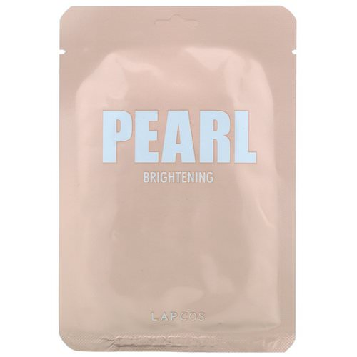 Lapcos, Pearl Sheet Mask, Brightening, 1 Mask, 0.81 fl oz (24 ml) Review