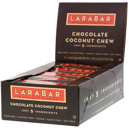 Larabar, Chocolate Coconut Chew, 16 Bars, 1.6 oz (45 g) Each Review