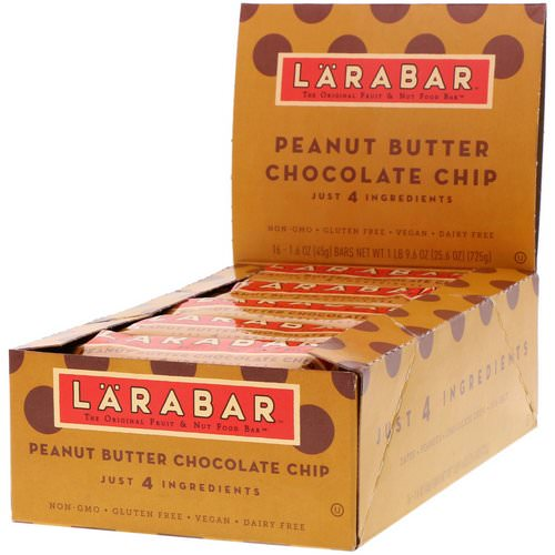 Larabar, Peanut Butter Chocolate Chip, 16 Bars, 1.6 oz (45 g) Each Review