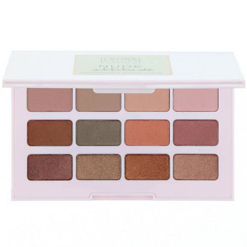 Laura Geller, Nude Attitude, Multi-Finish Eyeshadow Palette, 12 Eyeshadows Review