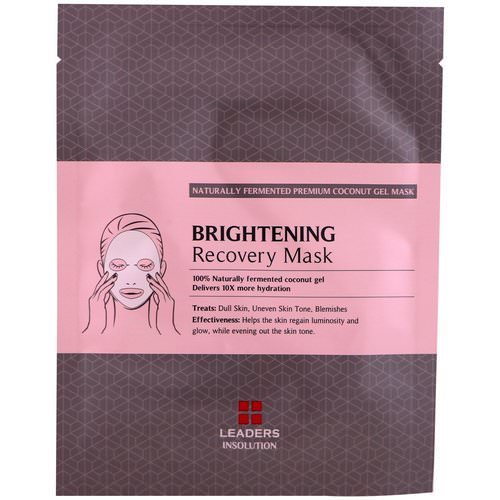 Leaders, Coconut Gel Brightening Recovery Mask, 1 Mask, 30 ml Review