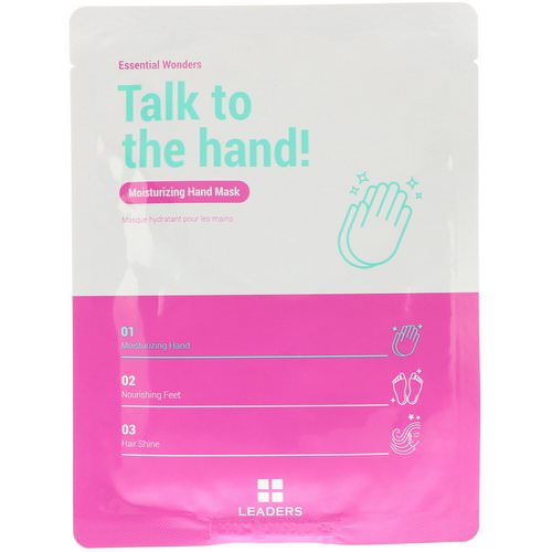 Leaders, Essential Wonders, Talk to the Hand, Moisturizing Hand Mask, 1 Pair, 16 ml Review