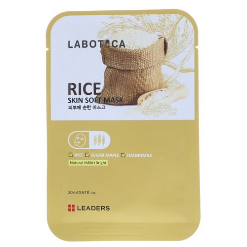 Leaders, Labotica, Rice Skin Soft Mask, 1 Mask, 20 ml Review