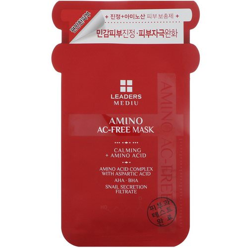 Leaders, Mediu, Amino AC-Free Mask, 1 Mask, 25 ml Review
