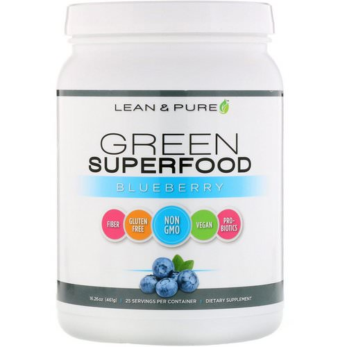 Lean & Pure, Green Superfood, Blueberry, 16.26 oz (461 g) Review