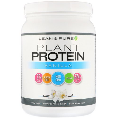 Lean & Pure, Plant Protein, Vanilla, 17.4 oz (534 g) Review