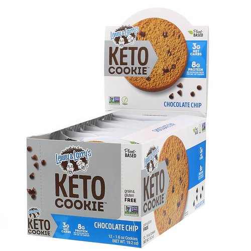 Lenny & Larry's, Keto Cookies, Chocolate Chip, 12 Cookies, 1.6 oz (45 g) Each Review