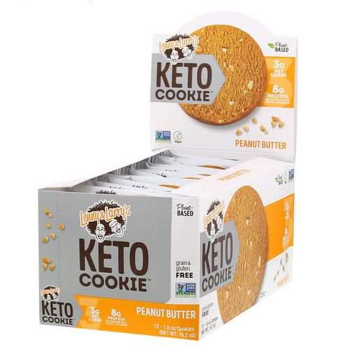Lenny & Larry's, Keto Cookies, Peanut Butter, 12 Cookies, 1.6 oz (45 g) Each Review