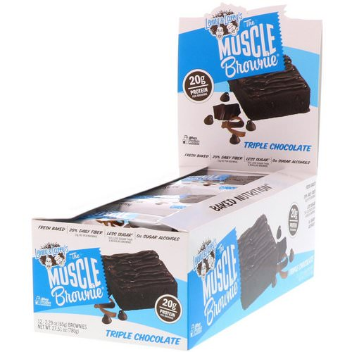 Lenny & Larry's, Muscle Brownie, Triple Chocolate, 12 Brownies, 2.29 oz (65 g) Each Review