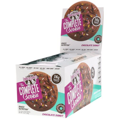 Lenny & Larry's, The Complete Cookie, Chocolate Donut, 12 Cookies, 4 oz (113 g) Each Review