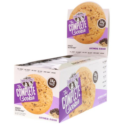 Lenny & Larry's, The Complete Cookie, Oatmeal Raisin, 12 Cookies, 4 oz (113 g) Each Review