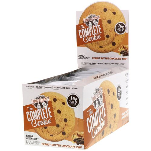 Lenny & Larry's, The Complete Cookie, Peanut Butter Chocolate Chip, 12 Cookies, 4 oz (113 g) Each Review
