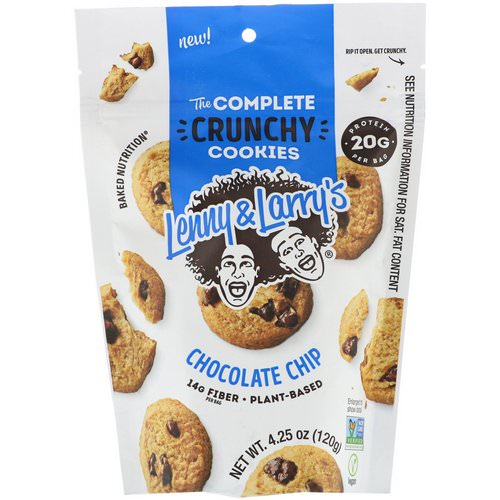 Lenny & Larry's, The Complete Crunchy Cookies, Chocolate Chip, 4.25 oz (120 g) Review