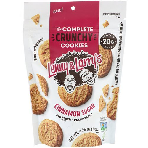 Lenny & Larry's, The Complete Crunchy Cookies, Cinnamon Sugar, 4.25 oz (120 g) Review