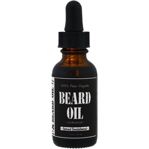 Leven Rose, 100% Pure Organic Beard Oil, Spiced Sandalwood, 1 fl oz (30 ml) Review