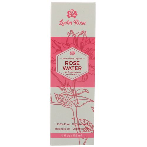 Leven Rose, 100% Pure & Organic Rose Water, 4 fl oz (118 ml) Review
