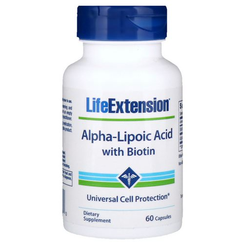 Life Extension, Alpha-Lipoic Acid with Biotin, 60 Capsules Review