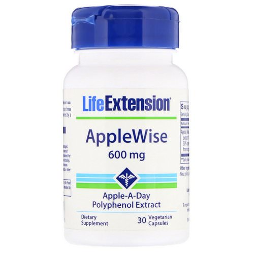 Life Extension, AppleWise, 600 mg, 30 Vegetarian Capsules Review