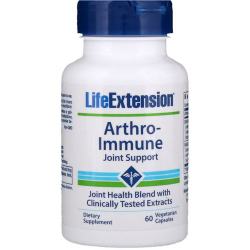 Life Extension, Arthro-Immune Joint Support, 60 Vegetarian Capsules Review