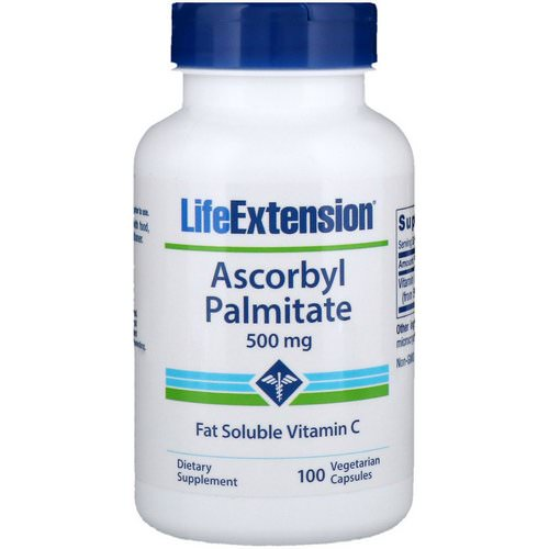 Life Extension, Ascorbyl Palmitate, 500 mg, 100 Vegetarian Capsules Review
