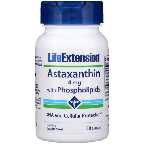Life Extension, Astaxanthin with Phospholipids, 4 mg, 30 Softgels Review