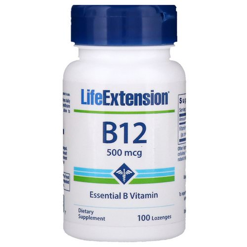 Life Extension, B-12, 500 mcg, 100 Lozenges Review