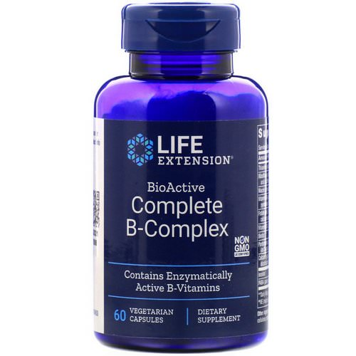Life Extension, BioActive Complete B-Complex, 60 Vegetarian Capsules Review
