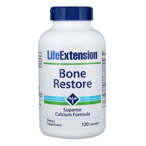 Life Extension, Bone Restore, 120 Capsules Review