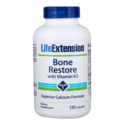 Life Extension, Bone Restore with Vitamin K2, 120 Capsules Review