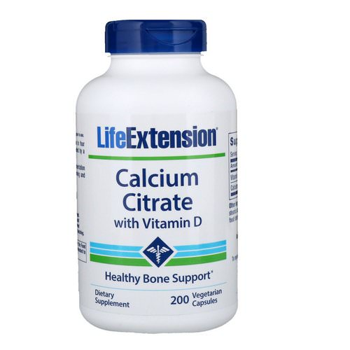 Life Extension, Calcium Citrate with Vitamin D, 200 Vegetarian Capsules Review