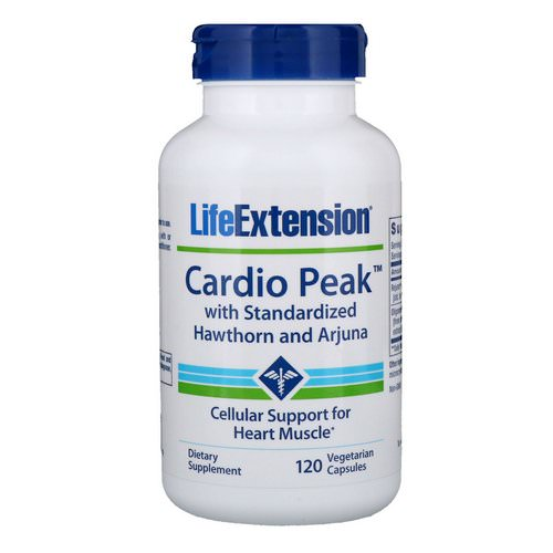Life Extension, Cardio Peak with Standardized Hawthorn and Arjuna, 120 Vegetarian Capsules Review