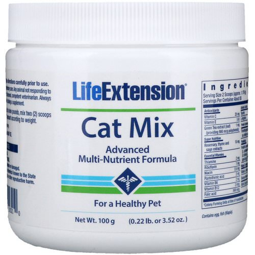 Life Extension, Cat Mix, Advanced Multi-Nutrient Formula, 3.52 oz (100 g) Review