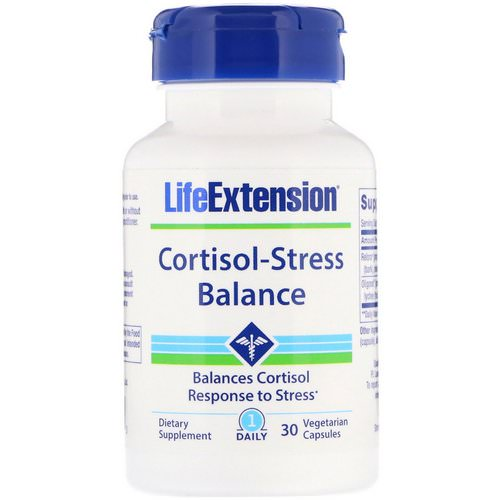 Life Extension, Cortisol-Stress Balance, 30 Vegetarian Capsules Review