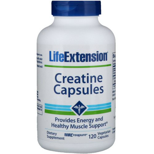 Life Extension, Creatine Capsules, 120 Vegetarian Capsules Review